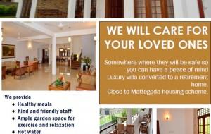 Retirement Villa (Mattegoda, Sri Lanka) – We Care For Your Loved Ones!