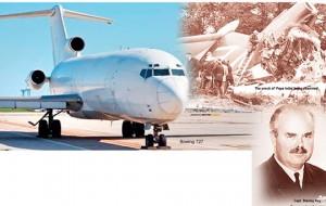 Last flight of HS 121 Trident 1 'Papa India' on 18 June 1972