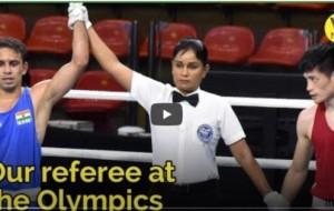 Sri Lanka's Nelka Shiromala Thampu Boxing Referee at the Olympics