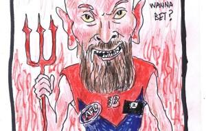 AFL (Australian Football League) – Grand Final 2021 – Melbourne Demons – Cartoon by Max Gerreyn